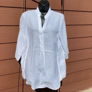 Laura Bianchi pom-pom trimmed tunic top size Small